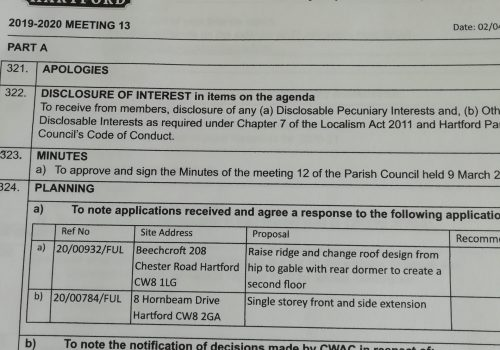 Council Meeting – 6 April 2020 7.30pm Public Participation