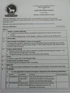 Read more about the article Council Meeting – 11 May 2020 7.30pm Public Participation