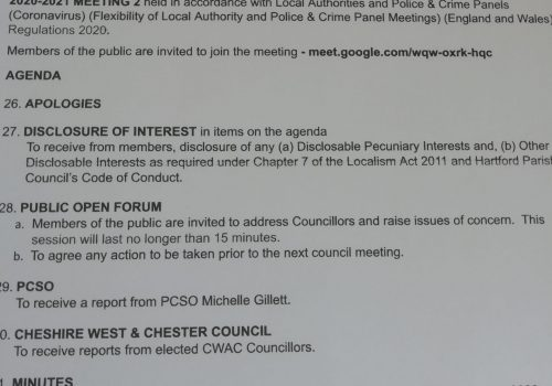 Council Meeting – 8 June 2020 7.30pm Public Participation