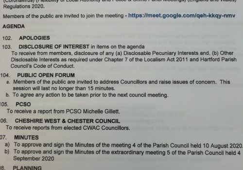 Council Meeting – 14 September 2020 7.15pm Public Participation