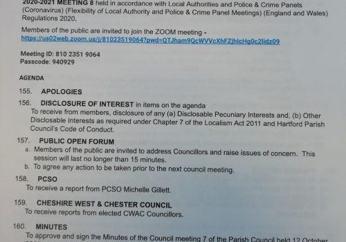 Council Meeting – 9 November 2020 7.15pm Public Participation