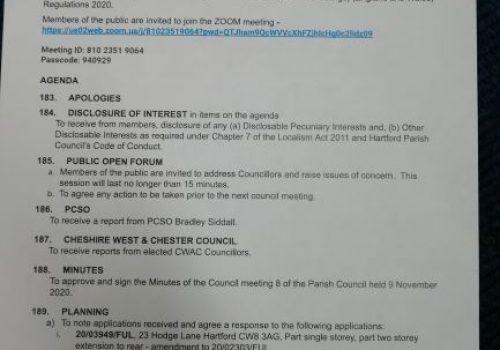 Council Meeting – 14 December 2020 7.15pm Public Participation