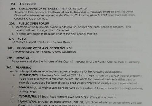 Council Meeting – 8 February 2021 7.15pm Public Participation