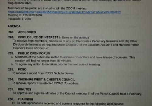 Council Meeting – 8 March 2021 7.15pm Public Participation