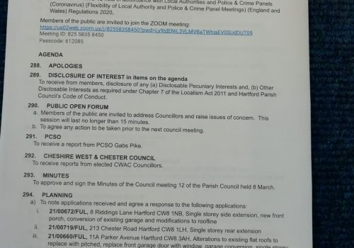 Council Meeting – 12 April 2021 7.15pm Public Participation