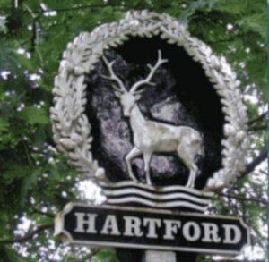 Hartford sign post
