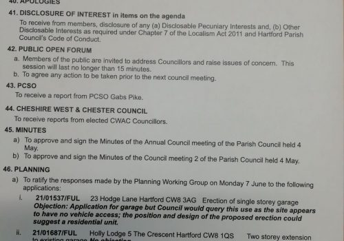 Council Meeting – 19 July 2021