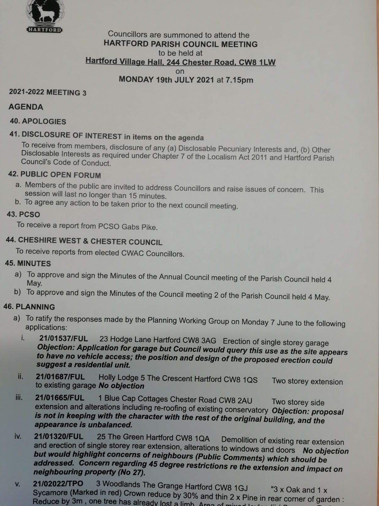 You are currently viewing Council Meeting – 19 July 2021