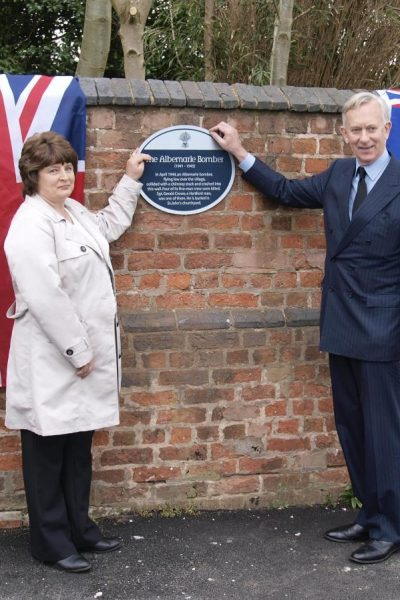 Picture of blue plaque unveiling