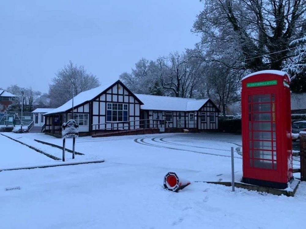 Village hall winter